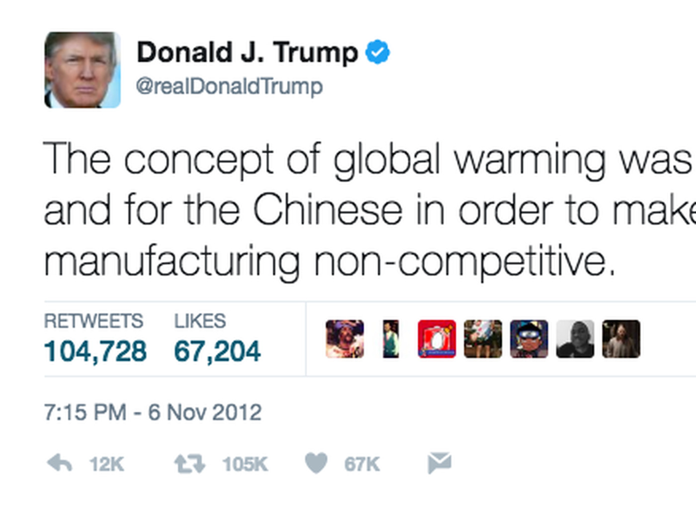Donald Trump Has Tweeted Climate Change Skepticism 115 Times Heres