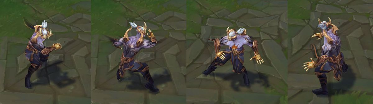 Nightbringer Lee Sin Prestige Editions' turnarounds for his in-game model