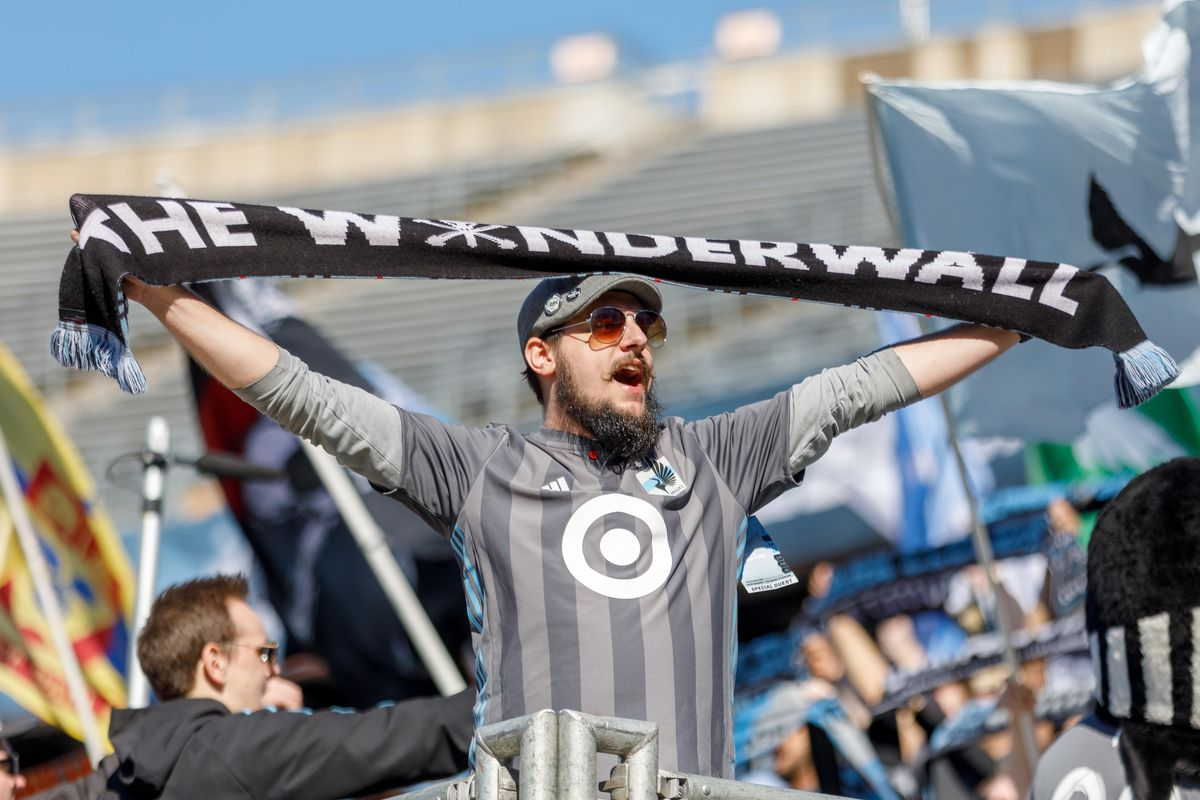 March 17, 2018 - Minneapolis, Minnesota, United States - Fans sing Wonderwall in celebration after Minnesota United defeated Chicago Fire 2-1 at TCF Bank Stadium.