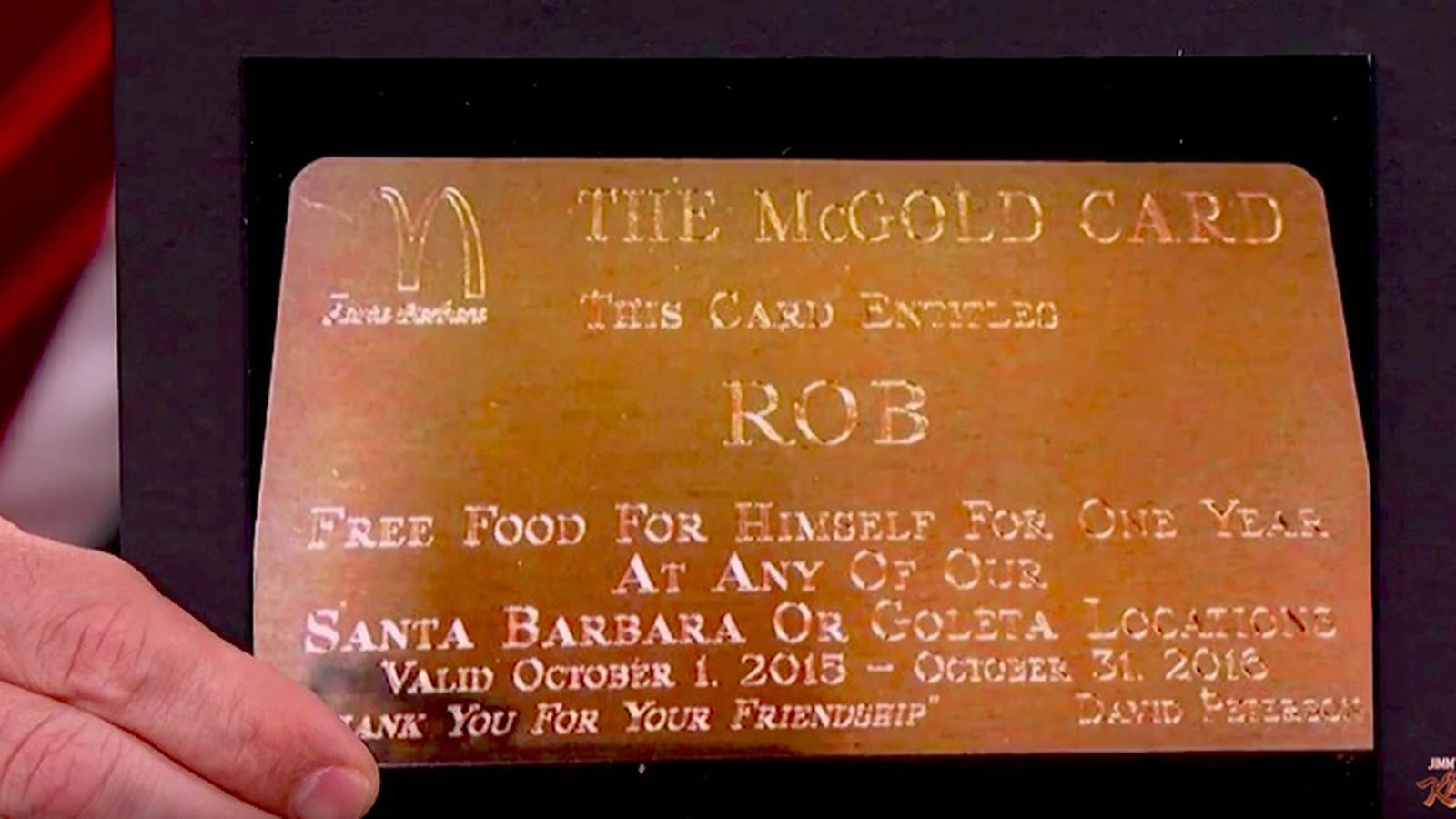Why rob lowe has a mcdonalds gold card eater 1betcityfo Image collections