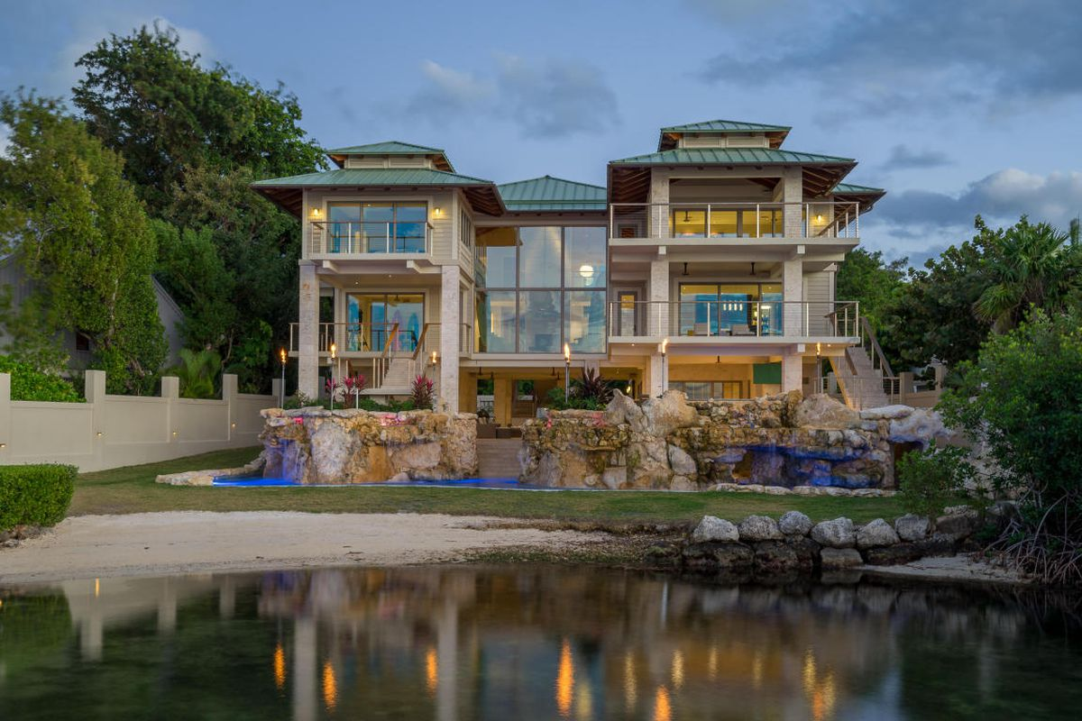 Florida keys dream mansion with sensational grotto asks for Dream house builders