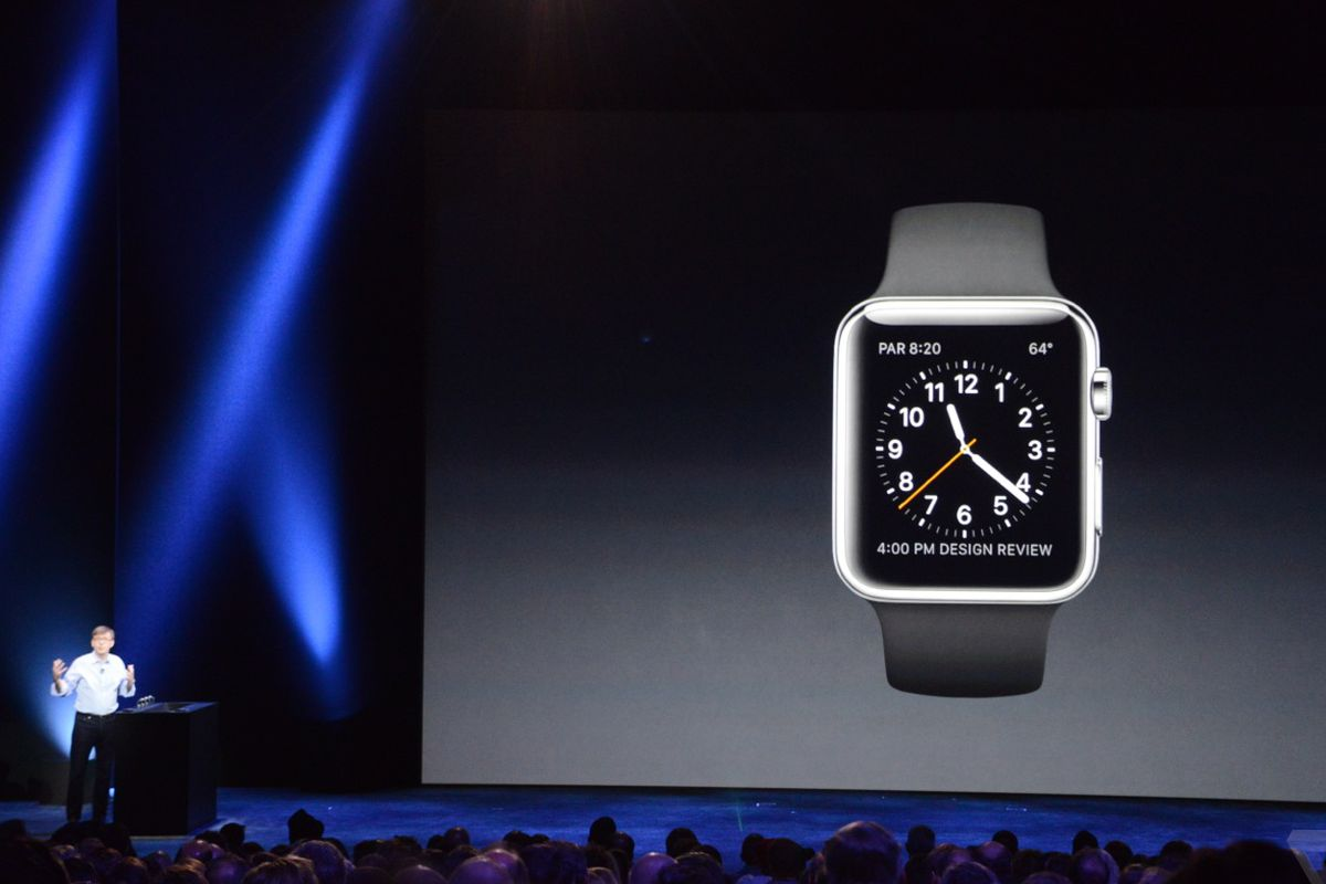 """Image <a href=""""http://live.theverge.com/apple-iphone-iwatch-live-blog/"""">via</a> The Verge."""