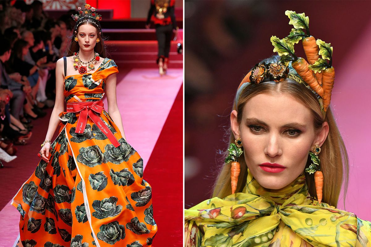 d8b3ee7f Dolce & Gabbana's Fashion Show Was Inspired by Everything in Your Fridge  Right Now