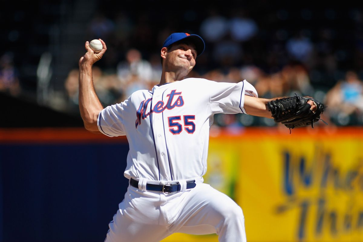 NEW YORK, NY - SEPTEMBER 09: Chris Young #55 of the New York Mets pitches against the Atlanta Braves at Citi Field on September 9, 2012 in the Flushing neighborhood of the Queens borough of New York City. (Photo by Andy Marlin/Getty Images)