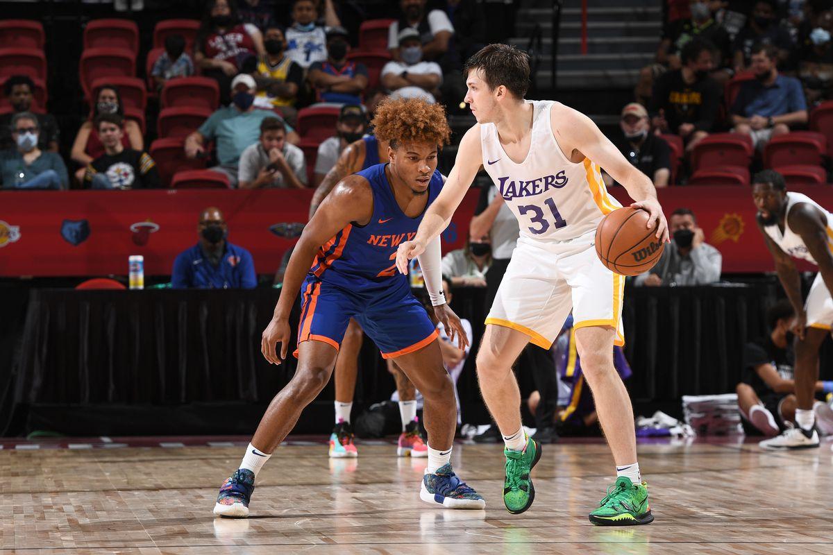 2021 Las Vegas Summer League - New York Knicks v Los Angeles Lakers
