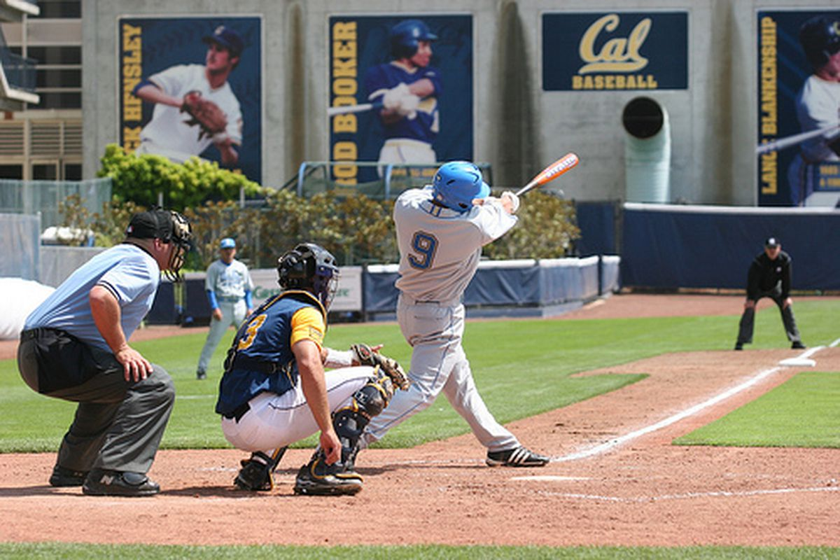 """<em>Blair Dunlap and his team-mates will be taking on an excellent Cal pitching staff. Photo Credit: <a href=""""http://www.flickr.com/photos/uclabaseball/2664998101/"""" target=""""new"""">UCLA Baseball (flickr)</a></em>"""