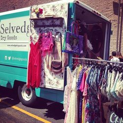"""Fashion truck sighting #2: <a href=""""http://www.selvedgedrygoods.com/""""target=_blank"""">Selvedge Dry Goods</a>."""