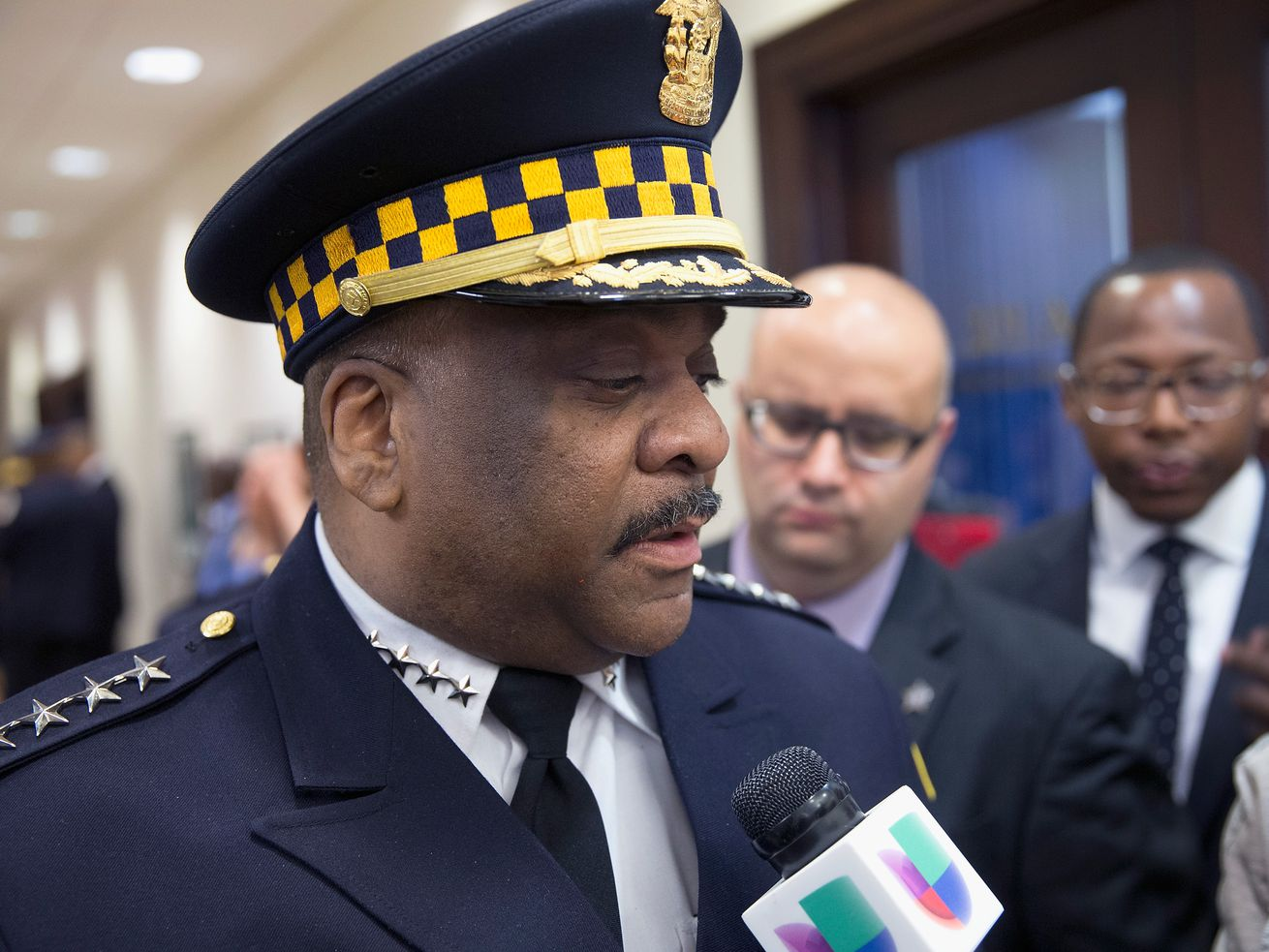 Former Chicago Police Supt. Eddie Johnson was forced into retirement in December, a month earlier than he had planned, by Mayor Lori Lightfoot.Former Chicago Police Supt. Eddie Johnson