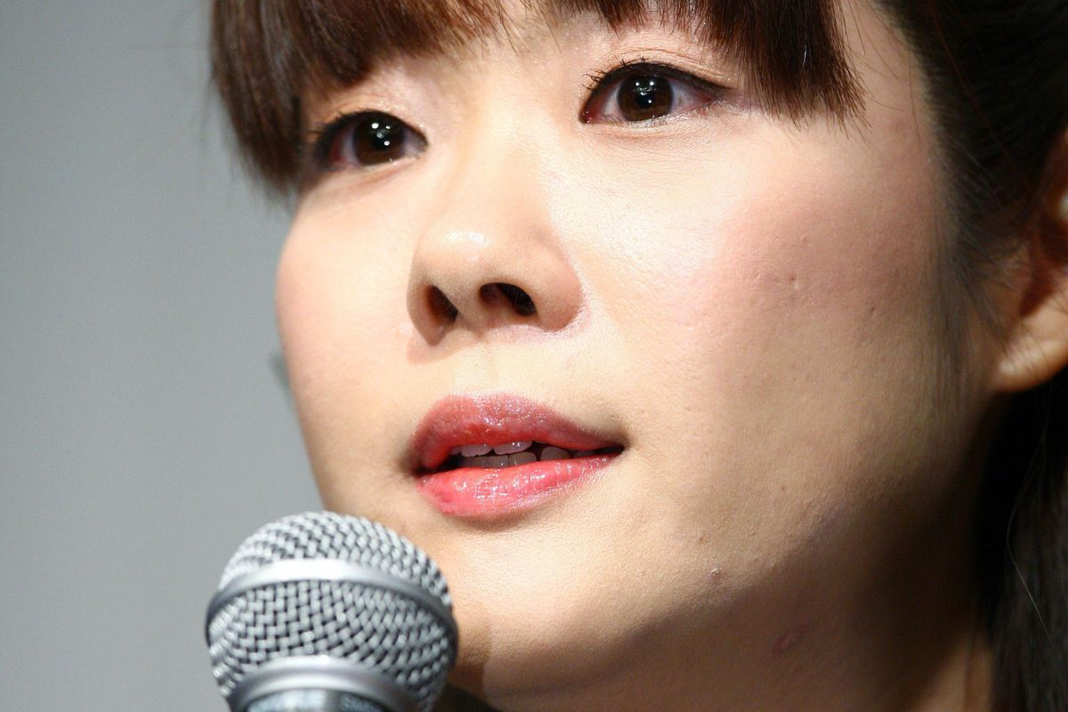 Haruko Obokata, 30, of Japan's Riken Institute speaks at a press conference on April 9, 2014, following claims that her groundbreaking stem-cell study was fabricated.