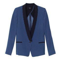 "<b>Tibi</b> Eriko Tuxedo Blazer in Vintage Blue, <a href=""http://www.tibi.com/shop/eriko-tuxedo-blazer"">$270</a> (from $450)"