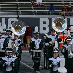 the band at halftime.