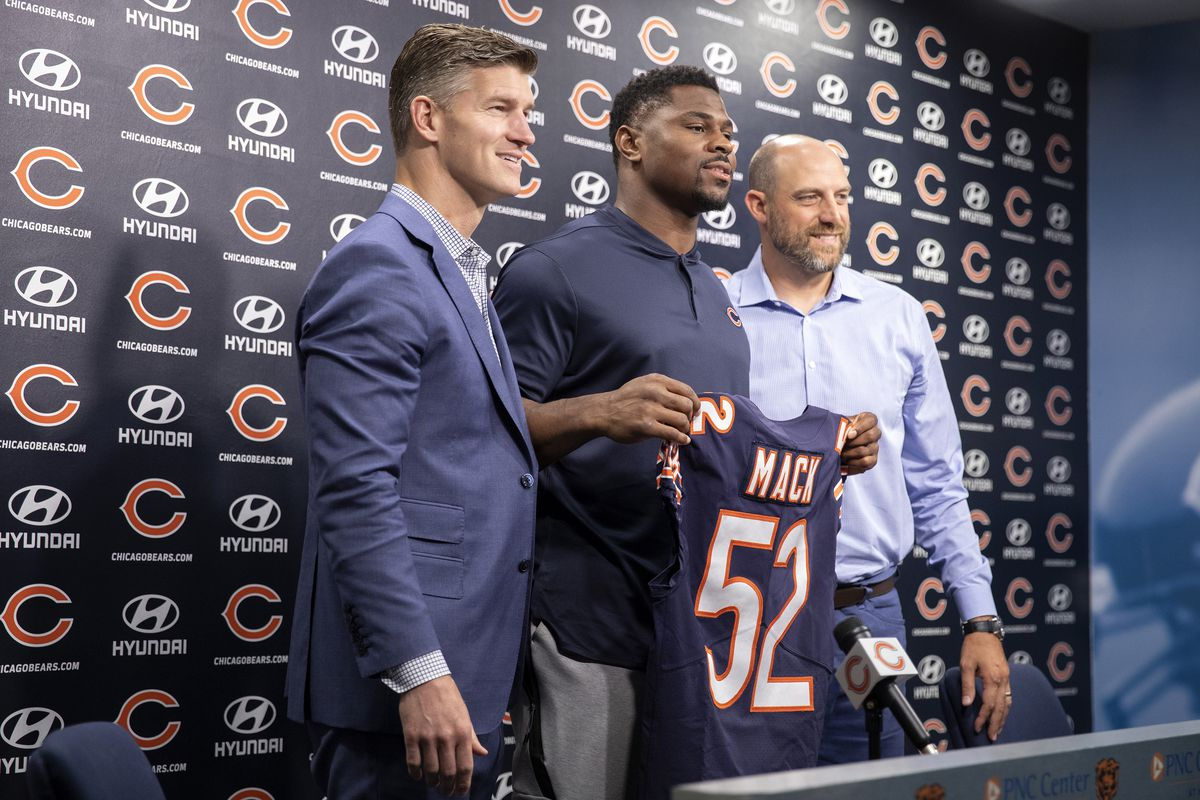 Khalil Mack introduced after signing six-year, $141 million deal with Bears