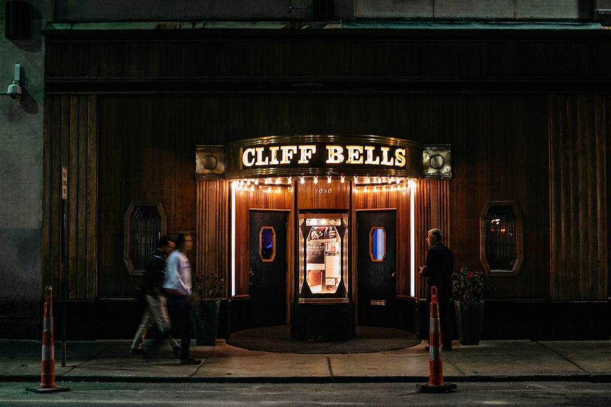The exterior of Cliff Bell's in Detroit.