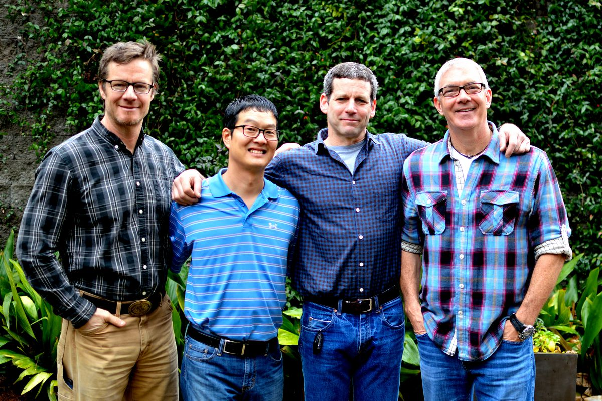 From left: 101 Concepts co-owner Phil Roness, 101 Steak executive chef/partner Joey Ahn, 101 Concepts co-owner Chris Segal, 101 Concepts co-owner Steve Buero.