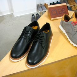 """<a href=""""http://clae.com/"""">Clae Footwear</a> showed a lot of choice casual shoes, but these black leather oxfords won out."""