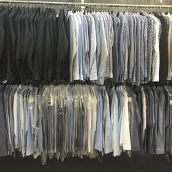 Men's sport shirts ($79) and Yost jackets ($249)