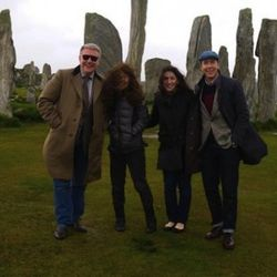 The Callanish Standing Stones, built around 2,900 BC. Jennings is on the far right.
