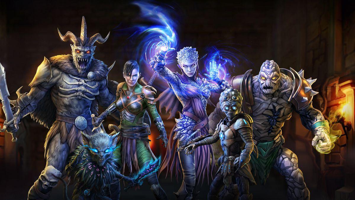 Several of Gloomhaven digital's mercenaries