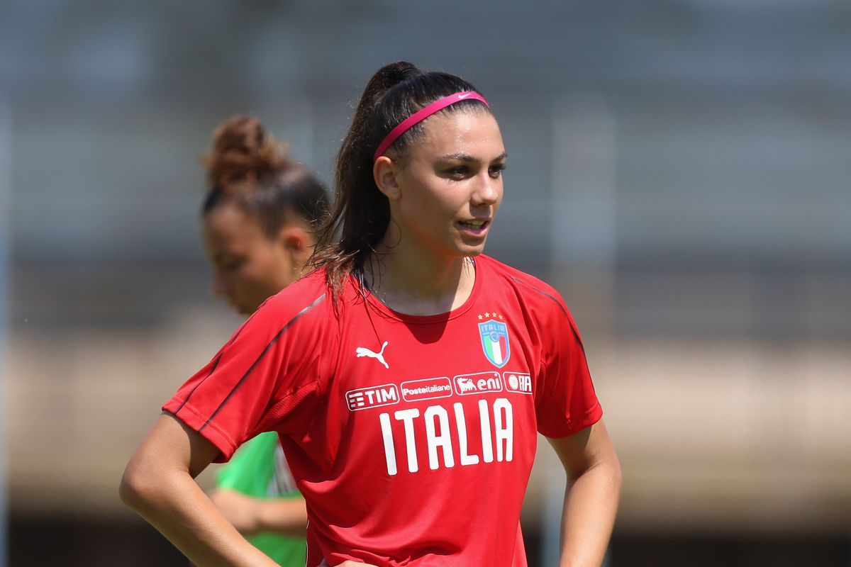 Italy Women U19 Photocall And Training Session