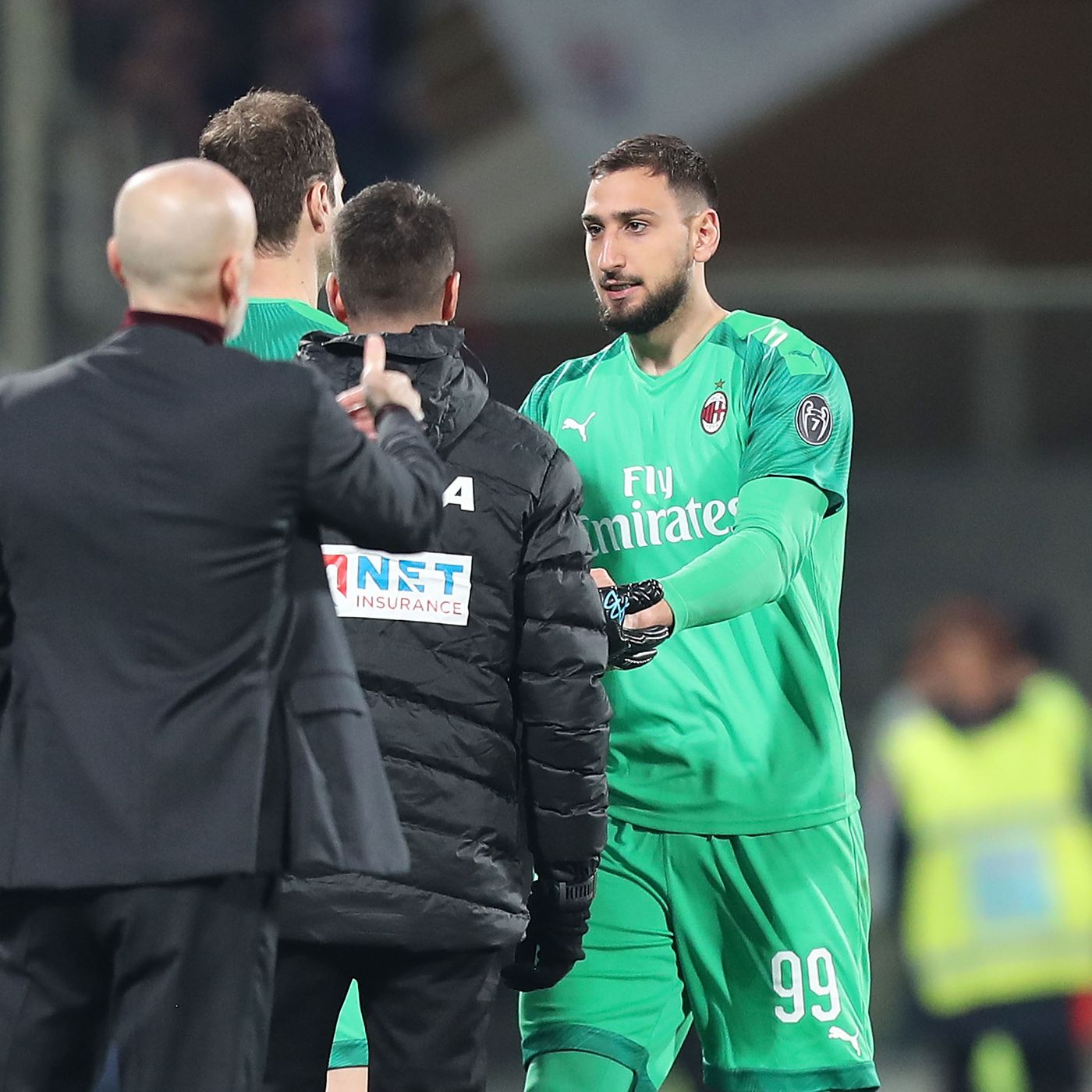 Ac Milan Goalkeeper Donnarumma Picks Up Ankle Injury Against Fiorentina Extent Unknown The Ac Milan Offside