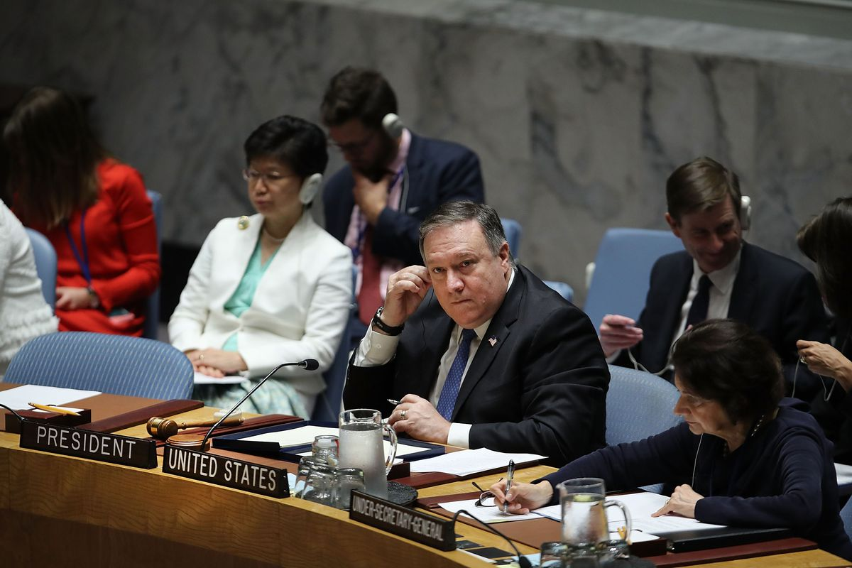 Secretary Of State Pompeo Chairs United Nations Security Council On North Korea