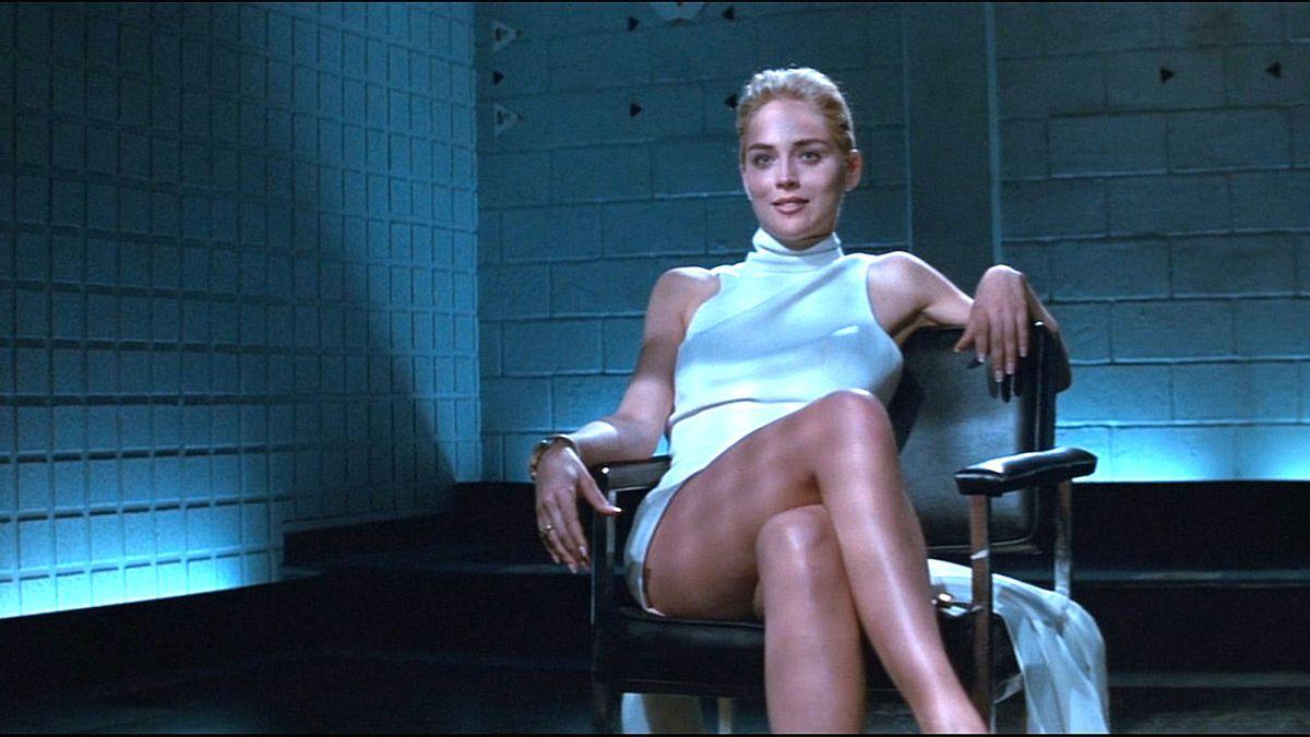 Sharon Stone as Catherine Tramell in Basic Instinct.