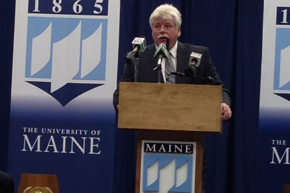 First year Maine head coach Red Gendron