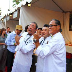 Yoya Takahashi and Wonny Lee of Hamasaku with Morimoto