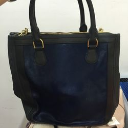 Leather and calfhair bag, $130
