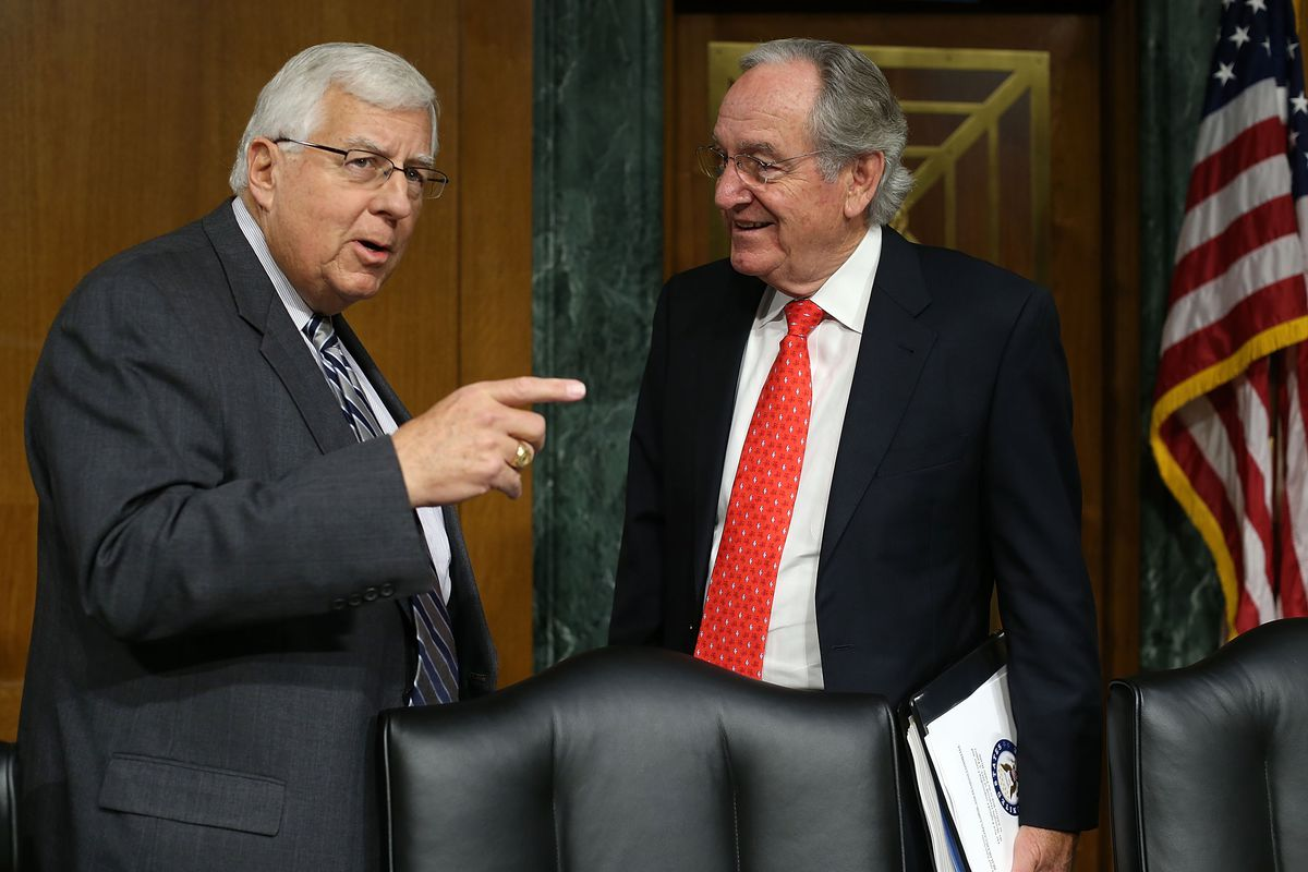 Sen. Mike Enzi (R-WY), right, requested a dynamic scoring of Obamacare repeal.