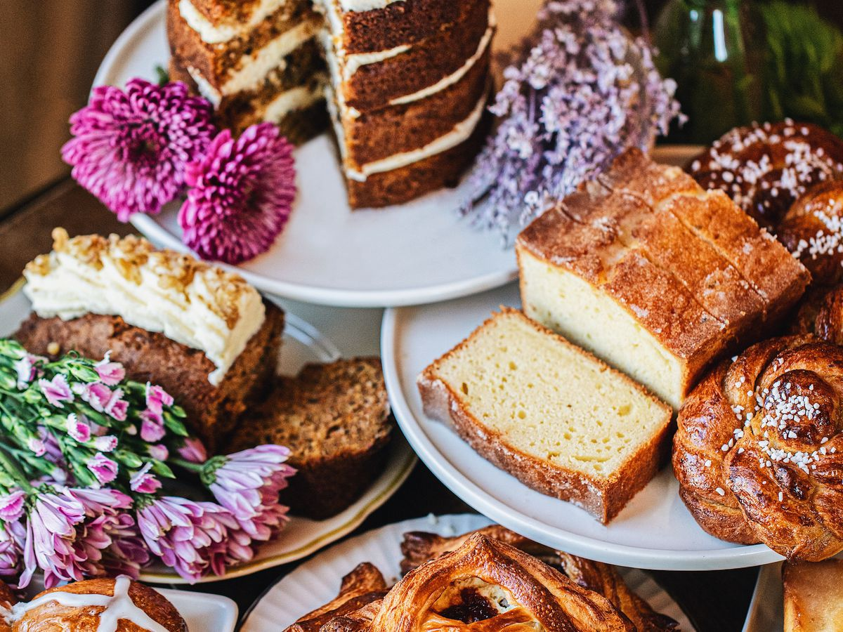A spread of pastries