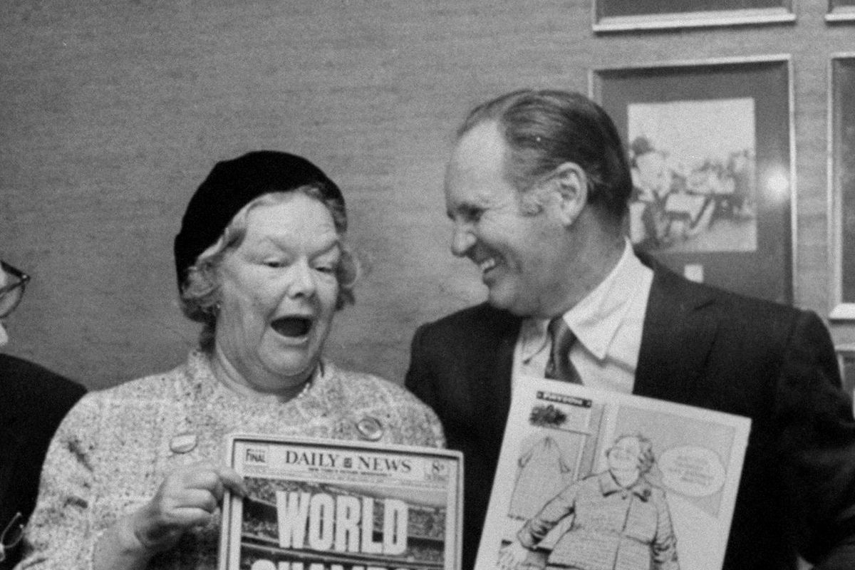 Daily News luncheon for Mrs. Joan Payson. Left to right: M.