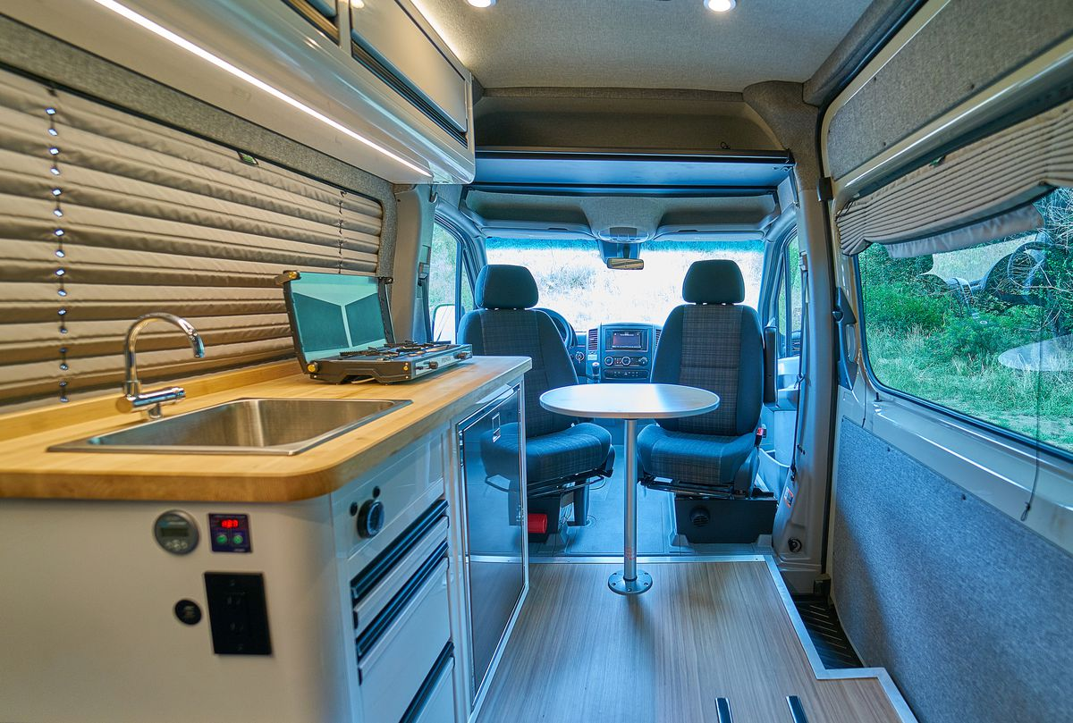 Sleek Camper Van Sleeps Two With Space For Bikes Curbed