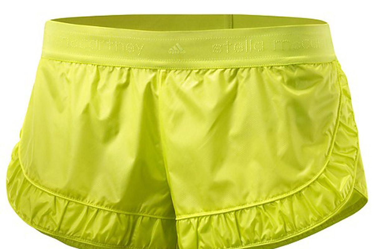 """Stella McCartney shorts via <a href=""""http://www.shopadidas.com/product/womens-stella-mccartney-run-nylon-shorts/EA301?cid=O56359&amp;breadcrumb=1z13svoZ1z13y9l"""">Adidas</a>"""