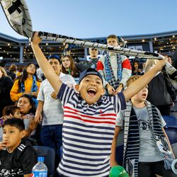 June 12, 2019 - Saint Paul, Minnesota, United States - Loons fans sing Wonderwall as Minnesota United top Sporting KC at Allianz Field to move on into the next round of the US Open.