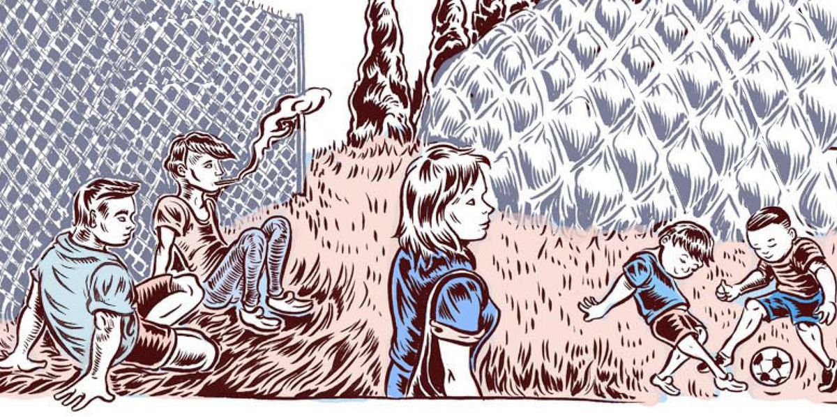 first panel of ali fitzgerald syria comic