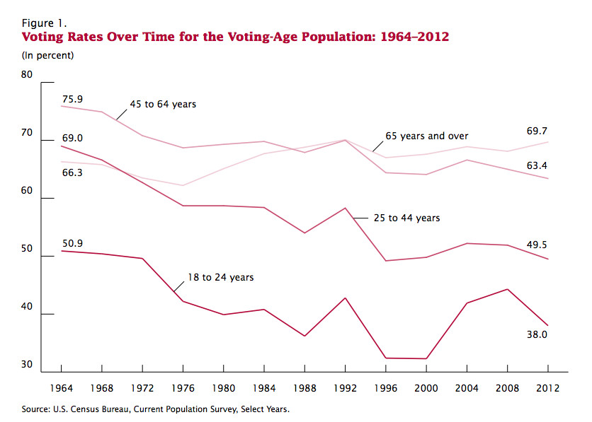 Young adult voter turnout