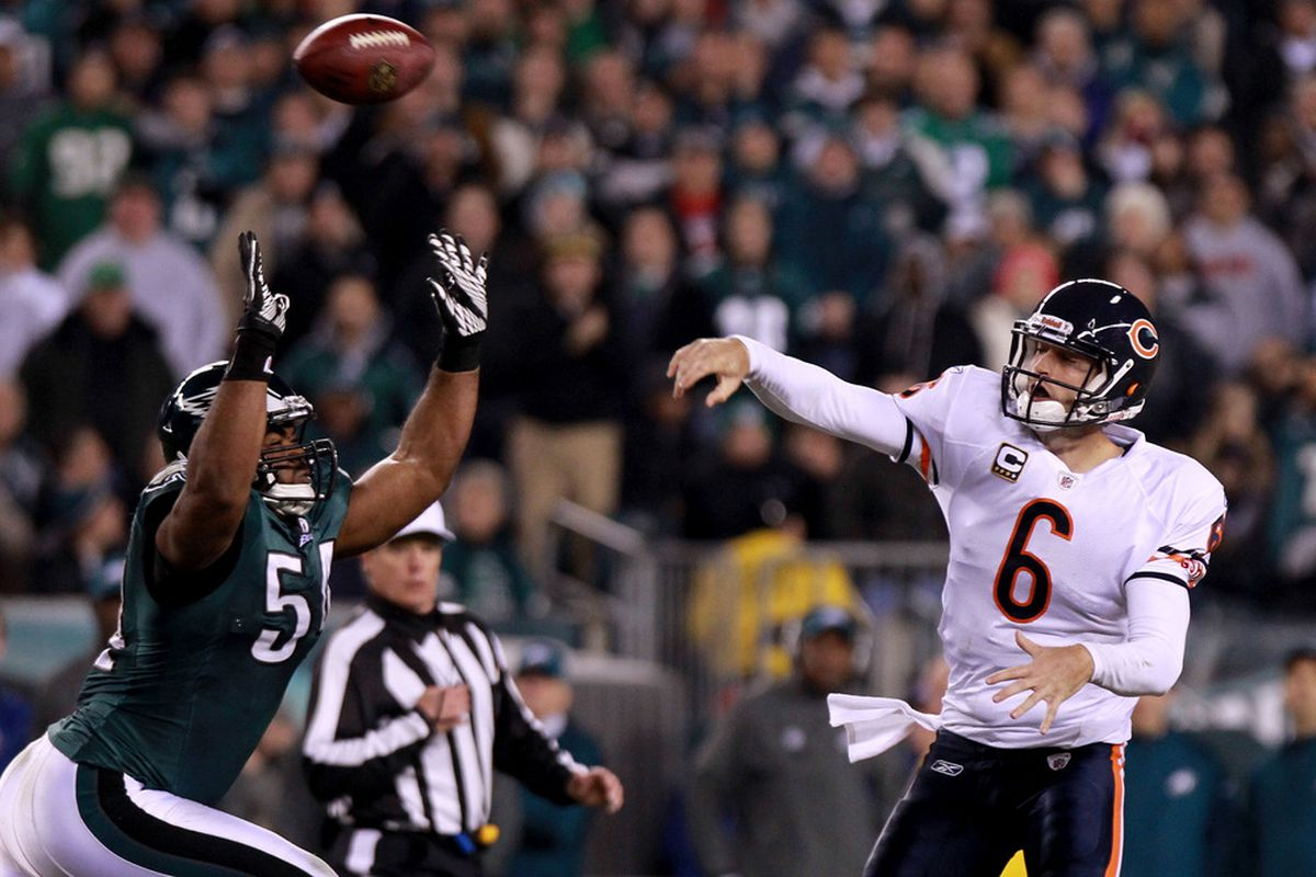 This is Jay Cutler throwing to someone. This season we will get a better chance to understand where he is throwing and why. It's a good thing.