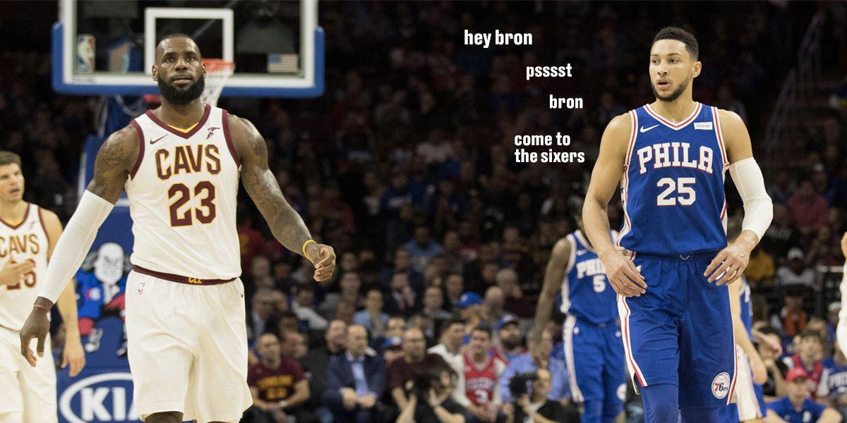 716cf0daa4d Joel Embiid and Ben Simmons really want LeBron James in Philadelphia -  SBNation.com
