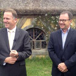 "Prime Minister John Key and Kevin Bowler of Tourism NZ [<a href=""https://twitter.com/johnkeypm/status/274039224267849728"">Photo</a>]"