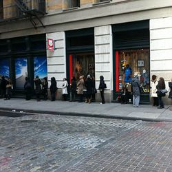 The line as of 9:30am at Alexander Wang pre-Fall and Fall sample sale