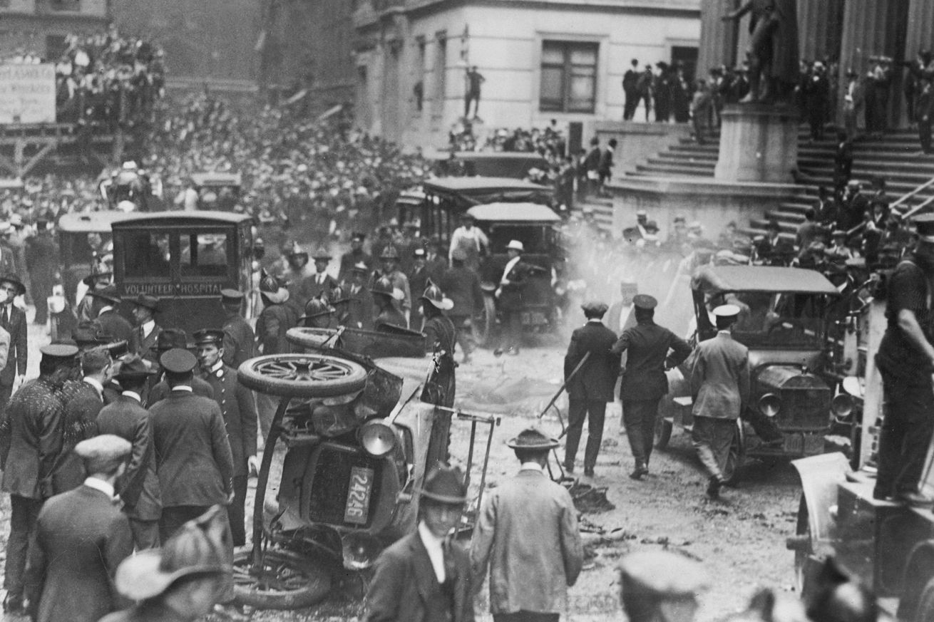 Aftermath of Wall Street Bombing in New York