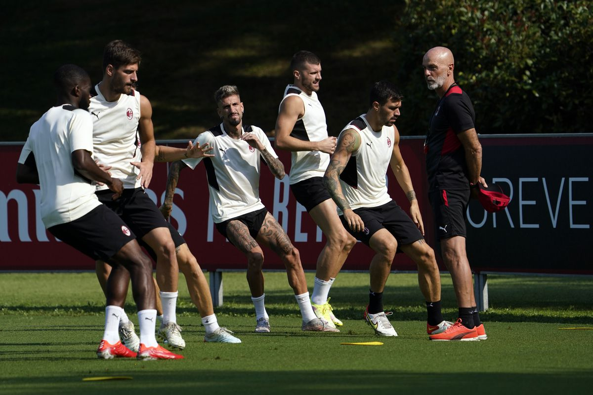 AC Milan Training Session And Press Conference
