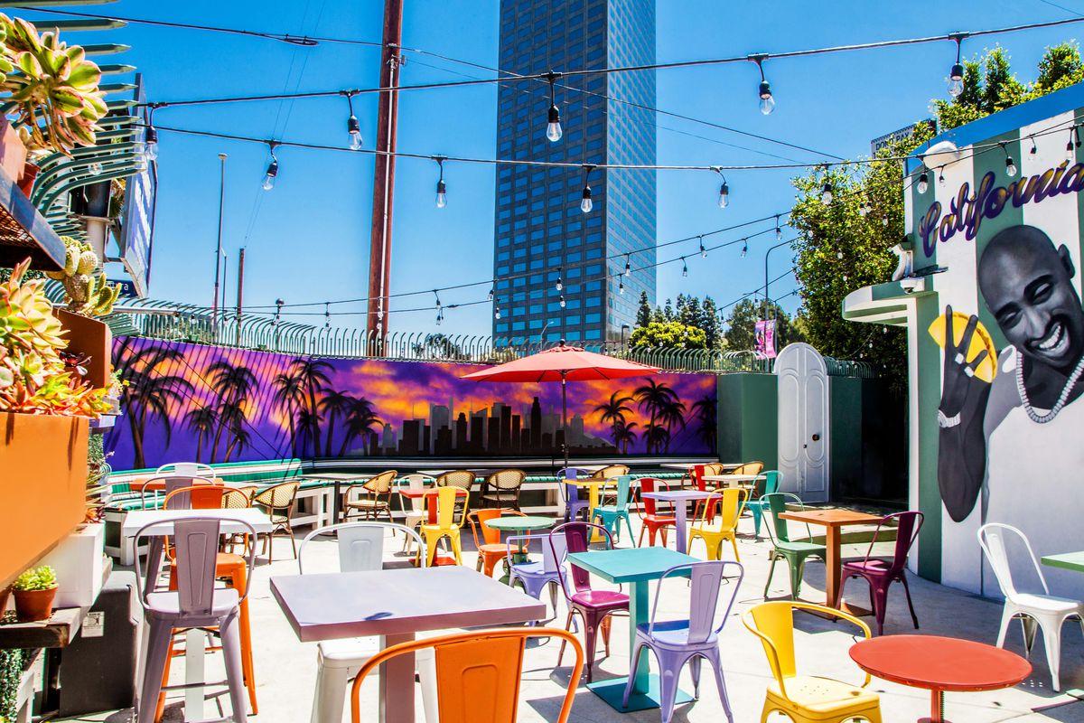 The patio at Roadside Taco in Studio City