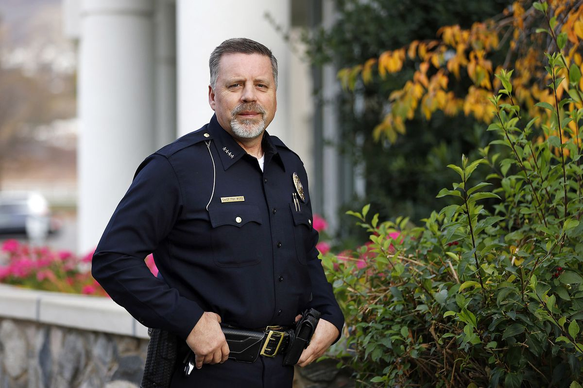Bountiful Police Chief Tom Ross poses for a photo in Bountiful on Monday, Oct. 30, 2017.