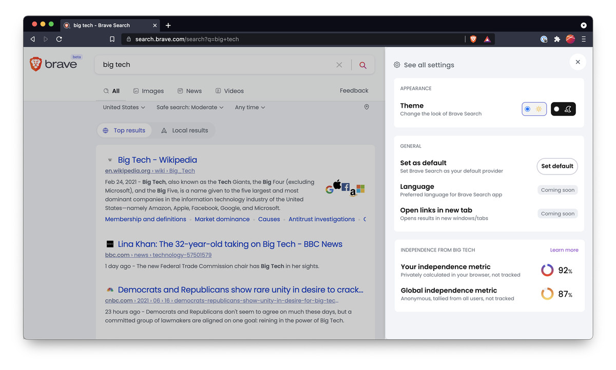 Brave's privacy-focused search engine is in public beta - The Verge