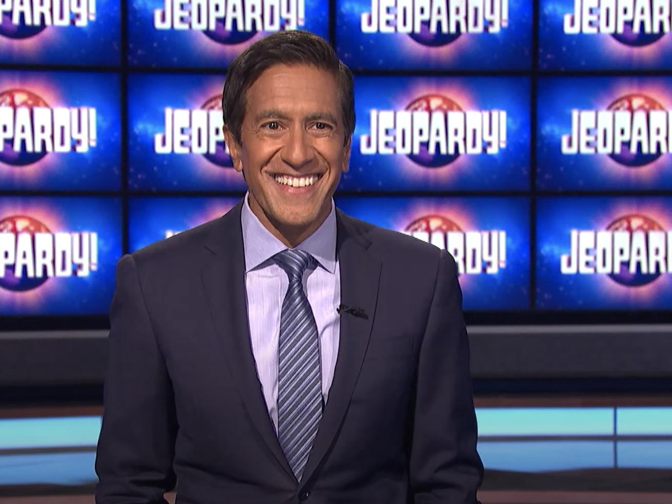 """Dr. Sanjay Gupta on the set of """"Jeopardy!"""""""