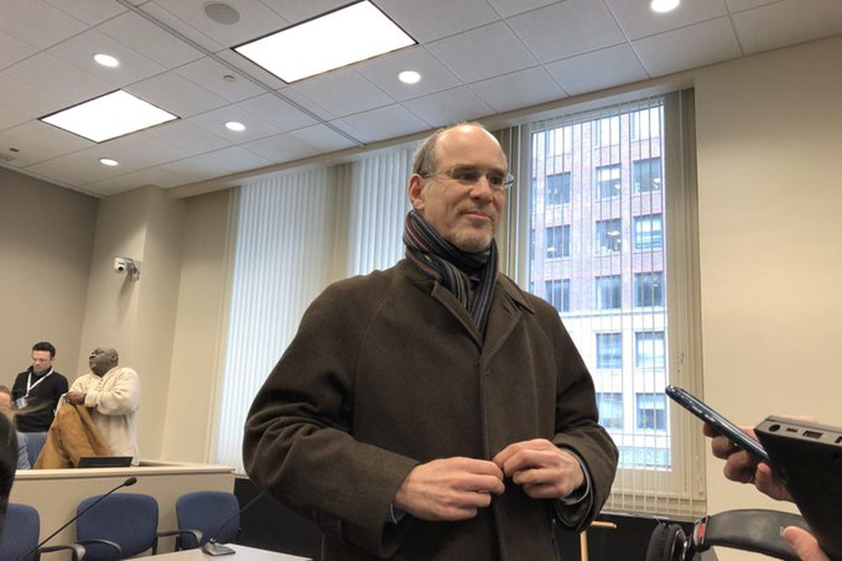Steve Berlin, executive director of the Chicago Board of Ethics, prepares to leave City Hall on Thursday after convincing aldermen to approve, yet another round of ethics reforms.