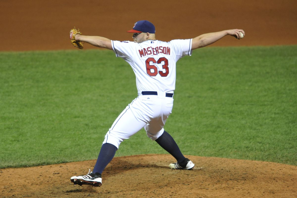 Masterson about to fly away.