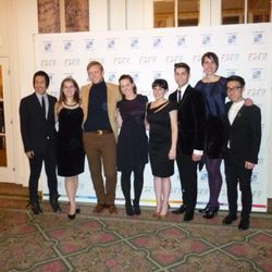 The YMA Fashion Scholarship Fund finalists from left to right: Tony Wang, Anfisa Sokolova, Marlow Larson, Allison Fitzgerald, Ruby Gertz, Alex Jacobs, Anna Hart Turner, John Sohn